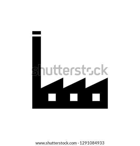 Factory Icon Vector Illustration Sign & Symbol.