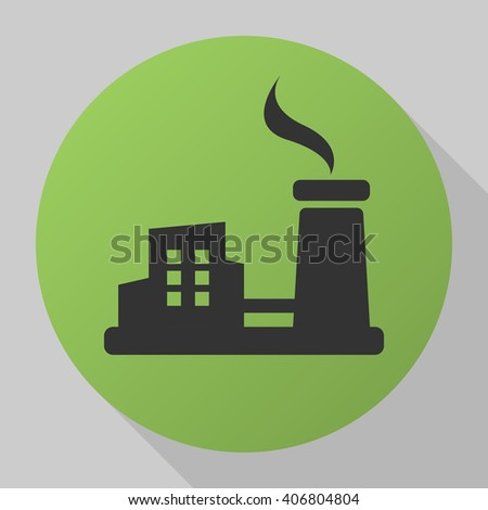 Factory icon vector, solid illustration, pictogram isolated on gray