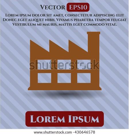 factory icon vector symbol flat eps jpg app web concept website