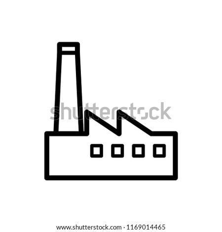 factory icon vector template