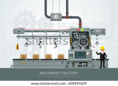 factory industrial machine...