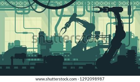 Factory interior illustration
