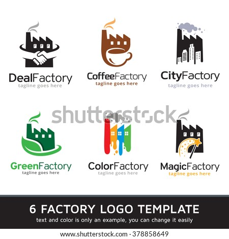 Factory Logo Template Design Vector