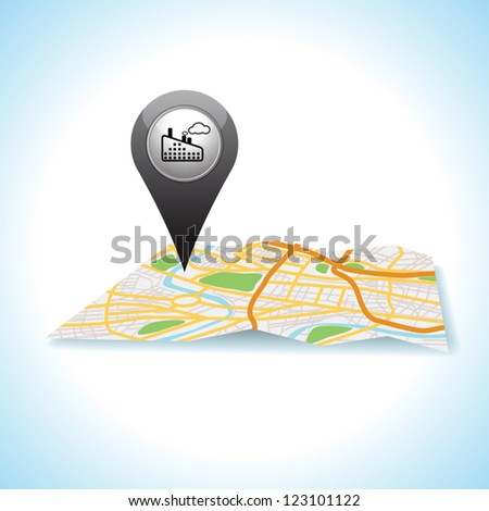 factory pointer pin map location icon