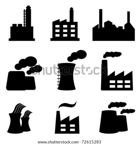 Factory power plants and industrial buildings