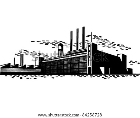Factory - Retro Clipart Illustration