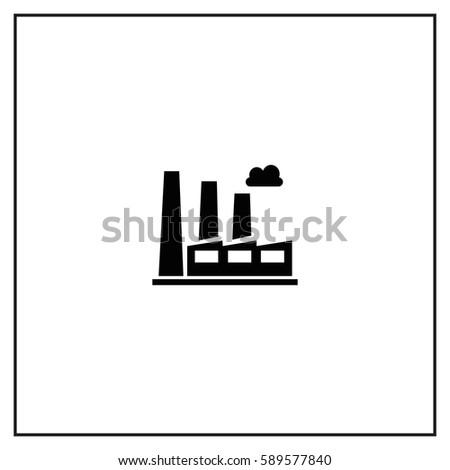 Factory Vector Icon.