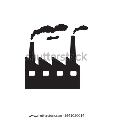 Factory vector icon. Factory flat sign design. Factory symbol pictogram