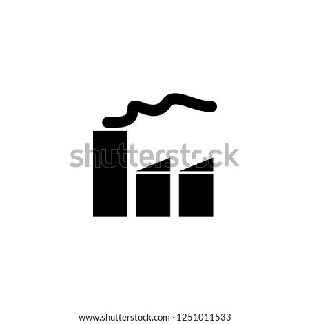 factory vector icon. factory sign on white background. factory icon for web and app
