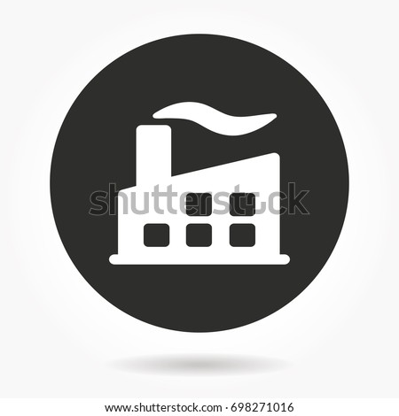 Factory vector icon. Illustration isolated for graphic and web design.