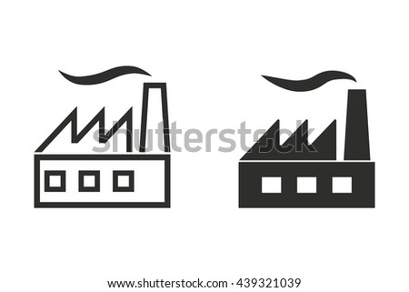 Factory vector icon. Illustration isolated on white background for graphic and web design.