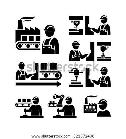 Industrial Machine Worker Operator Stock Photo 246452524