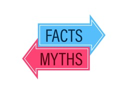 Facts vs Myths concept. icon. Clipart image isolated on white background.