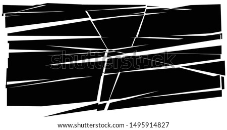 Facture, crack element. Shatter, broken surface texture. Grungy design. Decay, burst splinters illustration Stock photo ©