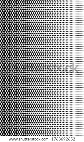 Fade dot. Gradient halftone. Background dots. Point texture. Overlay effect. Gradation transition. Half tone polka. Pop art design. Screentone prints. Comic designs. Dotted textured. Halfton noise stock photo