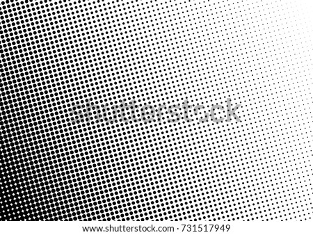 Fade Halftone Background. Gradient Dotted Overlay. Distressed Vintage Backdrop. Vector illustration