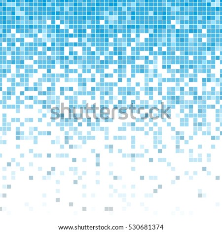 fading pixel pattern blue and