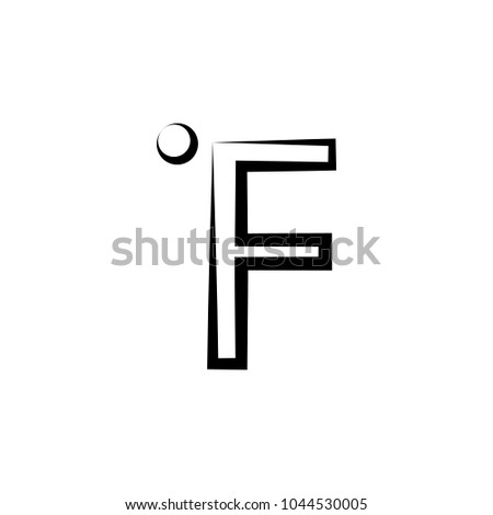 Fahrenheit icon. Element of weather icon. Premium quality graphic design. Signs and symbols collection icon for websites, web design, mobile app on white background
