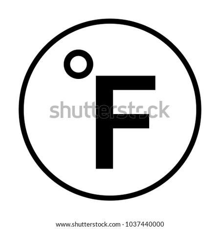 Fahrenheit icon in circle