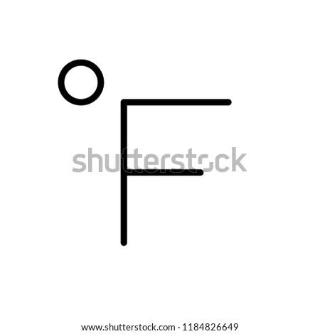 Fahrenheit icon in trendy flat style isolated on grey background. Website pictogram. Internet symbol for your web site design, logo, app, UI. Vector illustration, EPS10.