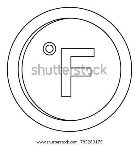 Fahrenheit icon. Outline illustration of fahrenheit vector icon for web