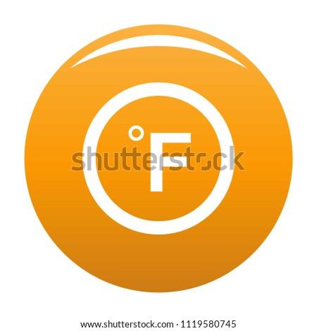 Fahrenheit icon. Simple illustration of fahrenheit vector icon for any design orange