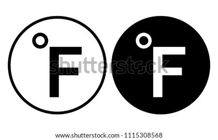 Fahrenheit icon. Vector illustration