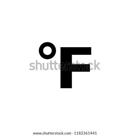 Fahrenheit sign icon. flat design