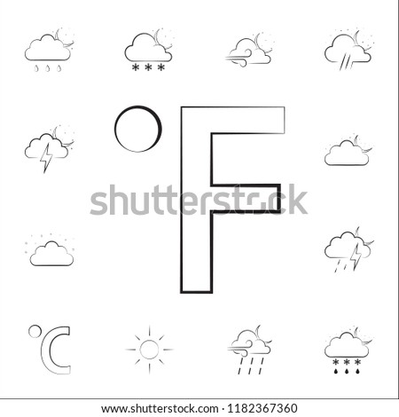 fahrenheit sign icon. Weather icons universal set for web and mobile on white background