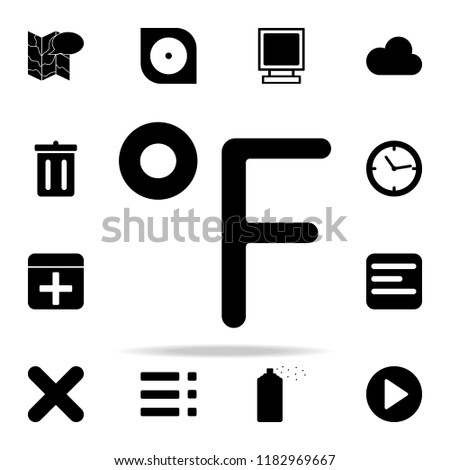 Fahrenheit sign icon. web icons universal set for web and mobile