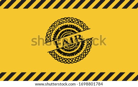 fair grunge warning sign emblem