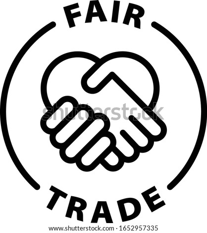 fair trade black outline icon Photo stock ©