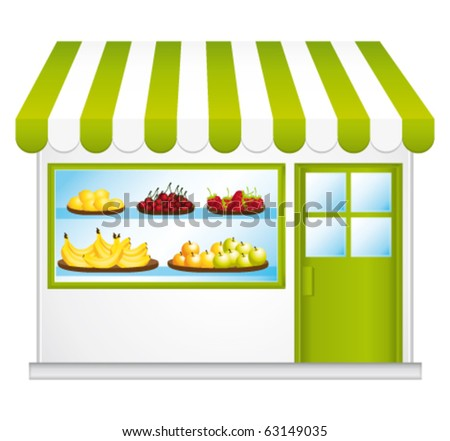 Fair trade grocery. Farming fruits and vegetables. vector illustration.