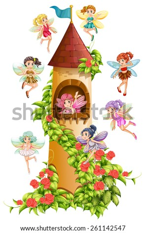 fairies flying around the