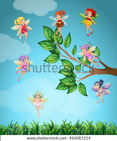fairies flying in the sky