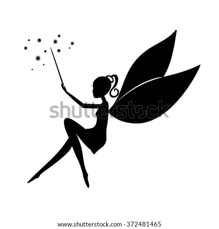 fairy black silhouette with a