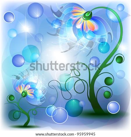 fairy blue mum and baby flowers