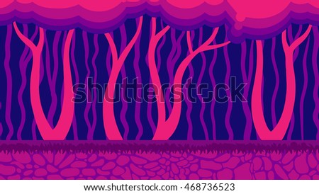 fairy forest seamless