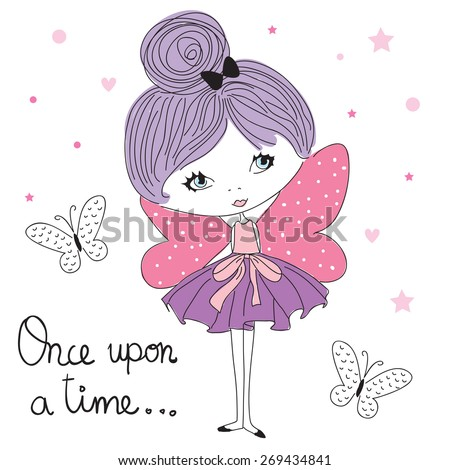 fairy girl vector illustration
