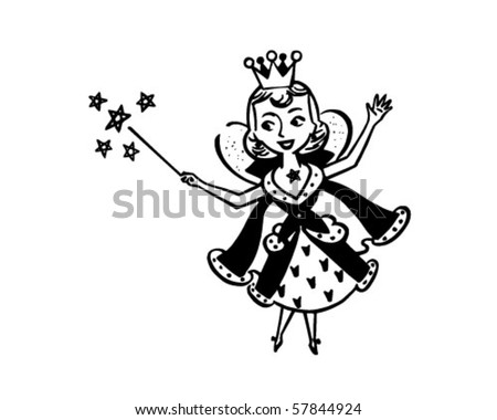 fairy housewife   retro clip art