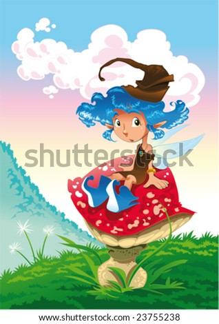 fairy in the landscape