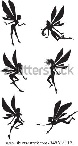 fairy silhouettes   clip art