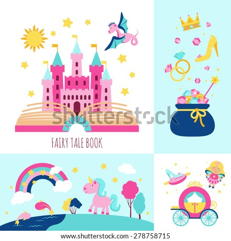 fairy tale book concept with