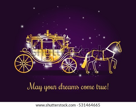fairy tale carriage with horse