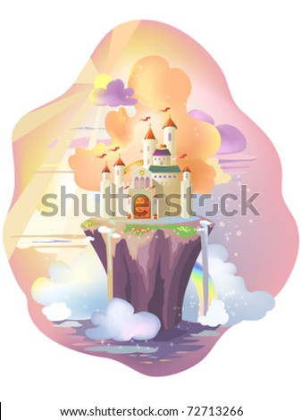 fairy tale castle  on magic
