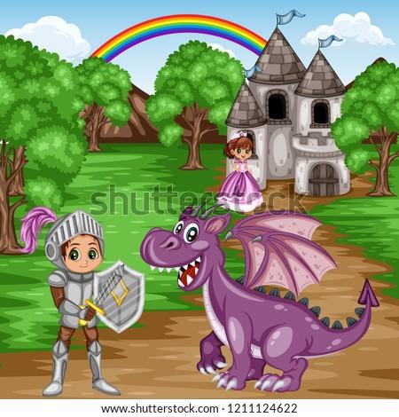 fairy tale characters and scene