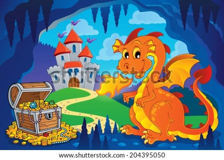 fairy tale image with dragon 7
