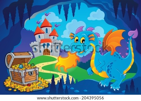 fairy tale image with dragon 8