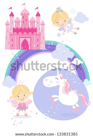fairy tale set icons