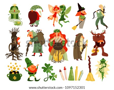 fairy tale set of mythology and